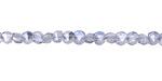 Glacier Crystal Double Sided Diamond Cut 4mm