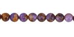 Lavender Opal w/ Bronzite Marbled Quartz Round 6mm