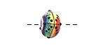 Grace Lampwork Rainbow Balloons Rondelle 9x13mm