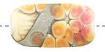 A Beaded Gift Silvered Rubino Garden Glass Focal 36-40x20mm