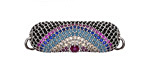 Mirage Mix Pave CZ Rhodium (plated) Sunset Elongated Focal Link 23x22mm
