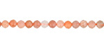 Peach Moonstone (Multi) Faceted Round 4mm