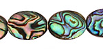 Abalone Flat Oval 20x15mm