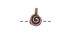 Greek Bronze (plated) Spiral Bead Bail 8x13mm