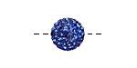 Sapphire Pave (w/ Preciosa Crystals) Round 12mm