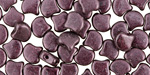 Dark Plum Metallic Suede Matubo Ginkgo Leaf 7.5mm Seed Bead