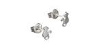 Amoracast Sterling Silver Kitty Ear Post Earring w/ Back 4.5x7mm