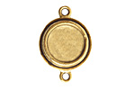 Nunn Design Antique Gold (plated) Large Double Circle Bezel Link 27x18mm