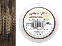 Twisted Artistic Wire Antique Brass 24 gauge, 10 yards