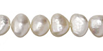 Pearly White Potato Freshwater Pearl 9-10.5mm