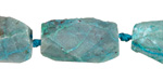 Chrysocolla Faceted Nugget 19-28x13-15mm