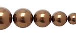 Chocolate Shell Pearl Graduated Round 8-16mm