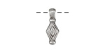 Greek Pewter Diamond Drop Charm 6x16mm