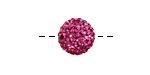 Fuchsia Pave (w/ Preciosa Crystals) Round 12mm