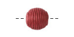 Cherry Thread Wrapped Bead 14mm