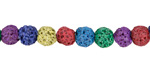Rainbow Lava Rock Unwaxed Round 7mm