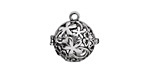Antique Silver Finish Bouquet Diffuser Locket 17x18mm