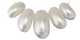 Mother of Pearl Shell Graduated Bib Pendant Set 19x33-25x45mm