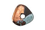 Greek Ceramic Raku Metallic Frosted Copper Washer 20-24mm