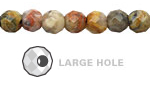 Crazy Lace Agate Faceted Round (Large Hole) 8mm
