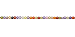 Multi Color Cubic Zirconia Faceted Round 2mm