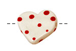 Jangles Ceramic White Small Heart 27-28mm
