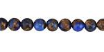 Cobalt Opal w/ Bronzite Marbled Quartz Round 6mm