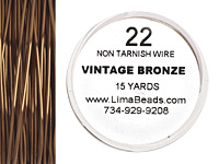 Parawire Vintage Bronze 22 gauge, 15 yards