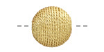 Metallic Gold Thread Wrapped Bead 18mm