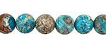Turquoise Orbicular Jasper Round 8-8.5mm