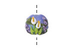 Grace Lampwork Calla Lily Lake Lentil 14-16mm