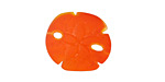 Tangerine Recycled Glass Sand Dollar 20mm