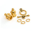 TierraCast Gold (plated) Pagoda 4mm Cord End Set