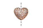 Rose Gold (plated) CZ Micro Pave Heart 10mm