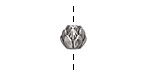 Zola Elements Antique Silver (plated) Lotus Blossom Round Bead 9x8mm