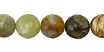 Antique Soochow Jade Faceted Round 12mm