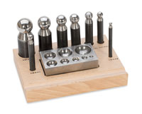 Dapping Punch Set w/ 8 punches 6mm to 28mm
