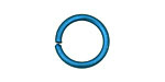 Blue Anodized Aluminum Jump ring 18mm, 12 gauge (13.1mm inside diameter)