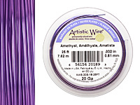 Artistic Wire Silver Plated Amethyst 20 gauge, 25 feet