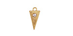 Zola Elements Matte Gold (plated) Triangle Charm w/ CZ 8x15mm