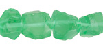 Emerald Green Recycled Glass Rough Nugget 8-15mm