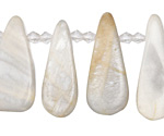 Moonstone Graduated Flat Teardrop 10-13x30-37mm