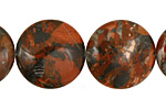 Gray Rainbow Jasper Puff Coin 20mm