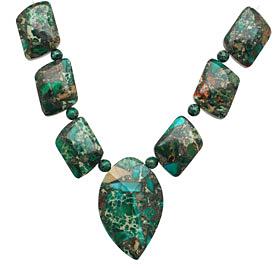 Emerald Impression Jasper & Pyrite Mixed Pendant Set 13-35mm