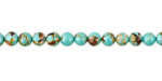Sea Green Mosaic Shell Round 4mm