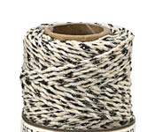Natural & Metallic Black Hemp Twine 20 lb, 205 ft