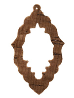 Dark Brown Cork Bali Chandelier Cutout Focal 37x63mm