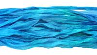 "Sapphire Hand Dyed 100% Habotai Silk Ribbon 1/2""-1"""