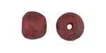 African Recycled Glass Brick Red w/ Shadow Crackle Tumbled Round 12-16mm