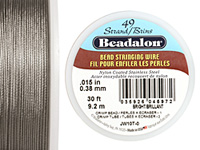 "Beadalon Bright .015"" 49 Strand Wire 30ft."